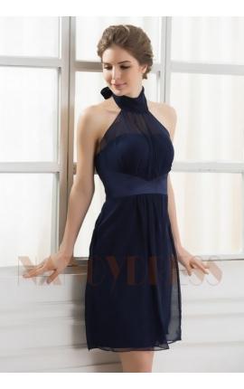 robe sexy bleu marine courte