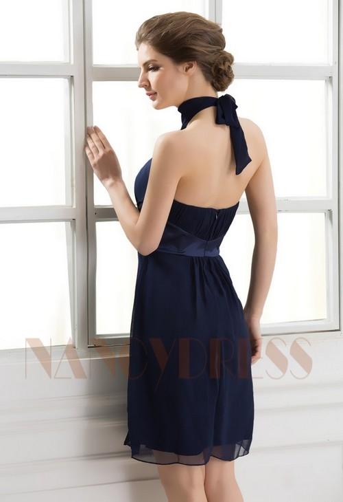 robe sexy bleu marine courte D062