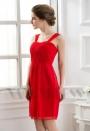 robes de cocktail rouge feu courte D072
