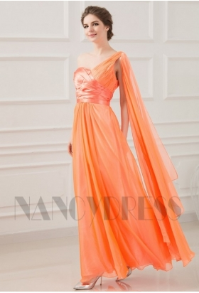 robe de cérémonie orange long