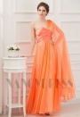 robe de cérémonie orange long H061