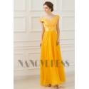 robe de soirée jaune long