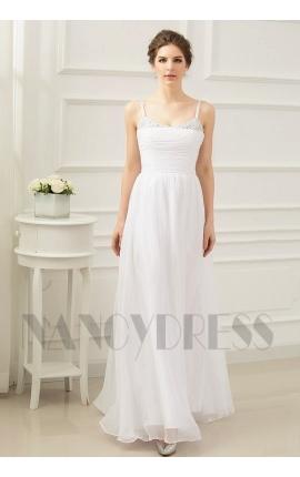 robe de soirée blanc long