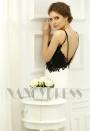 robe de soirée longue blanc et black Lace H054