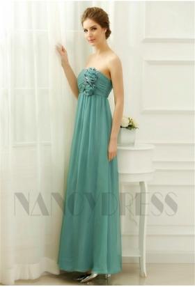 robe de soirée longue vert bustier long