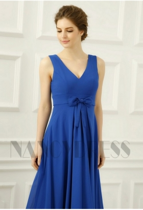 robe de soirée pas cher bleu roi long H084