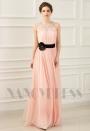 robe de soirée rose long H064