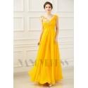 robe longue de soirée jaune long
