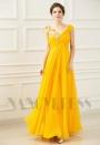 robe longue de soirée jaune long H078
