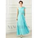 robe soirée bleu clair long