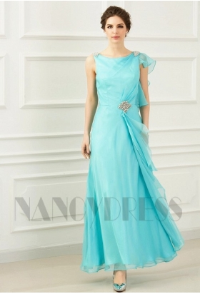 Robe cocktail bleu clair