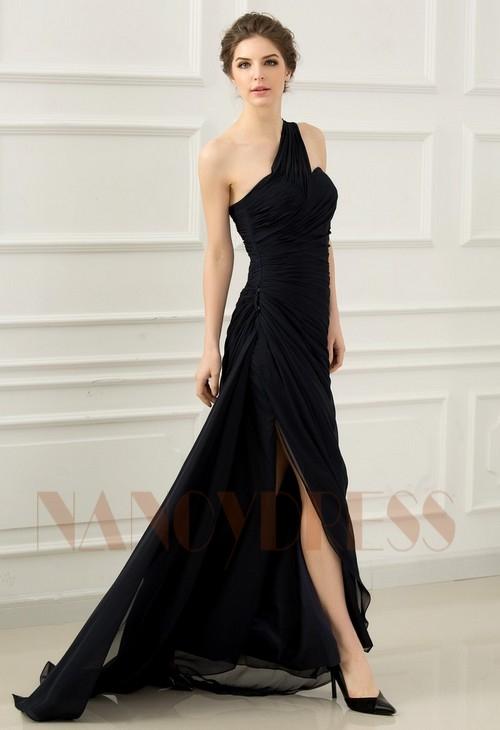 ec5745465a6 robe soirée bleu marine long H065