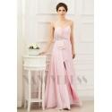 robe soirée rose bustier long