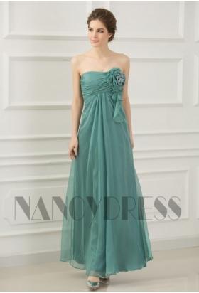 robe soirée vert long
