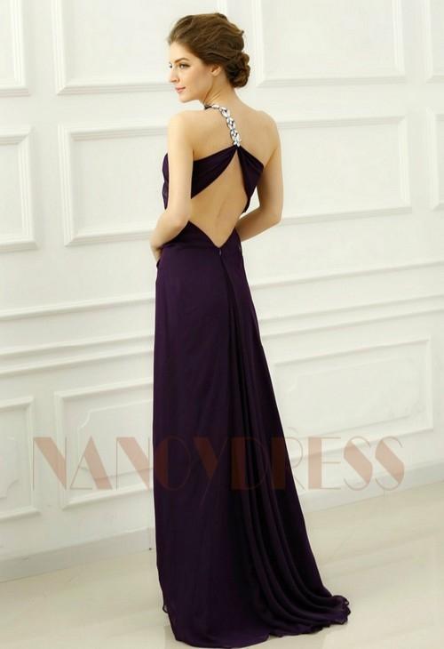 robes de soirée pourpre long H066