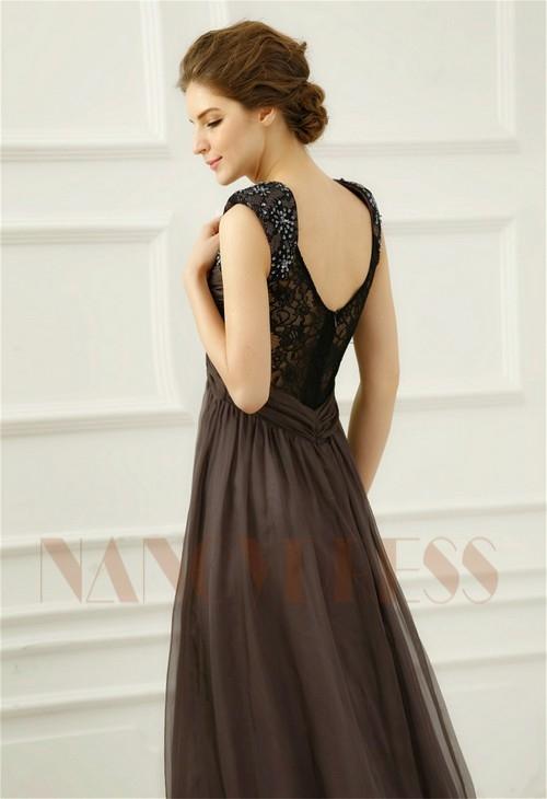 robes de soirée gris long H059
