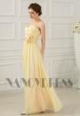robes de soirée jaune long H051