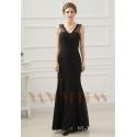 robes de soirée pas cher black Lace long