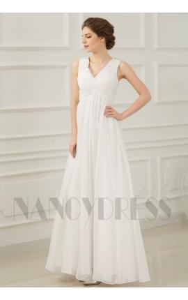 robes de soirée pas cher blanc long