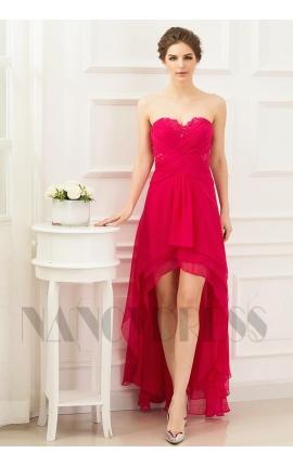 robes soirée fuchsia long
