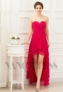 robes soirée fuchsia long H060