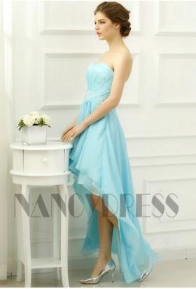 robes soirée bleu clair long H052