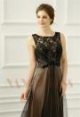robes soirée noire long H067