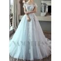 robe de mariage bleu turquoise