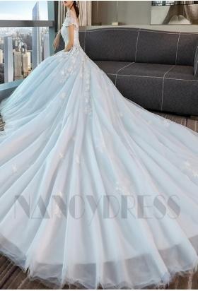 robe de mariage HS006 bleu turquoise