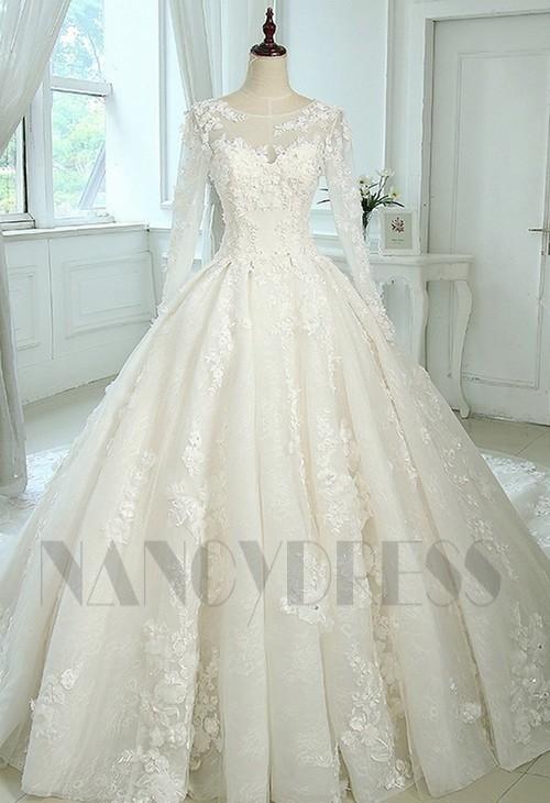 robe de mariage HS013 blanc