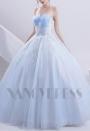 robe de marié HS012 bleu turquoise