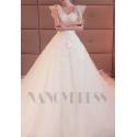robe de mariage blanche à manches