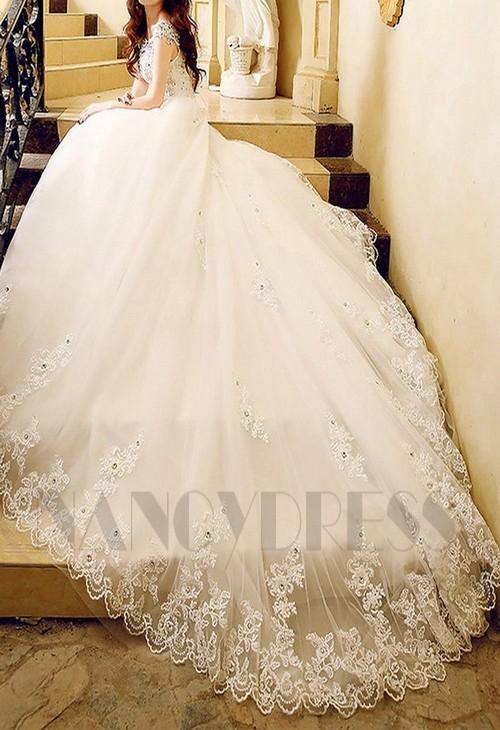 robe de mariée pas cher HS009 blanc