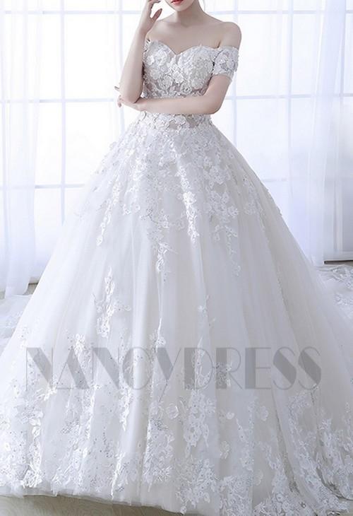 robe de mariée pas cher HS016 blanc
