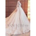 robe de mariage dos nu et manches longues
