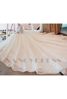 robe mariage HS014 blanc