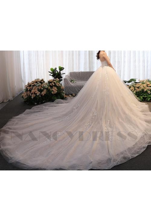 robe mariage HS021 blanc