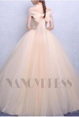 robe mariée champagne pâle