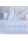 robe mariée HS018 bleu turquoise