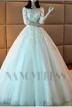 robes de mariée HS003 blanc