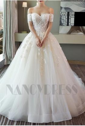 robes de mariée bustier romantique
