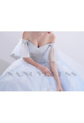 robes de mariée HS017 bleu turquoise