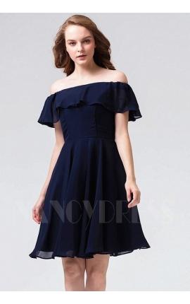 robe bustier bleu marine courte