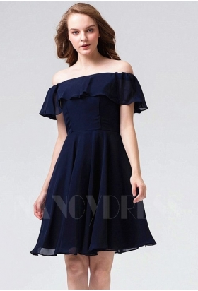 robe bustier bleu marine courte D082