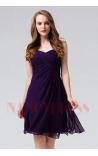 robe bustier pourpre courte D093