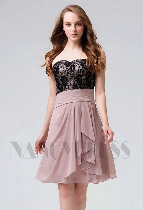 robe bustier Viande pourpre courte D096