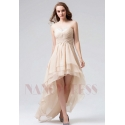 robe bustier champagne courte