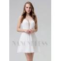 robe cocktail blanche courte
