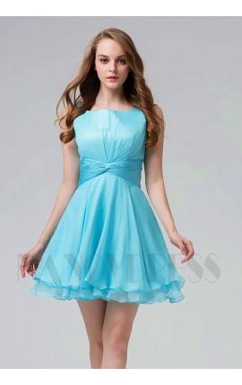 robe de cocktail bleu turquoise courte