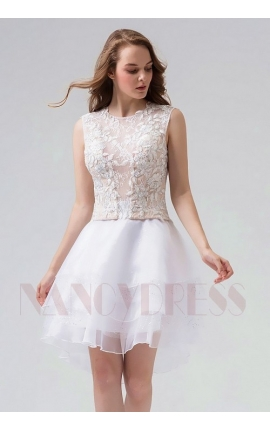robe de cocktail blanc courte